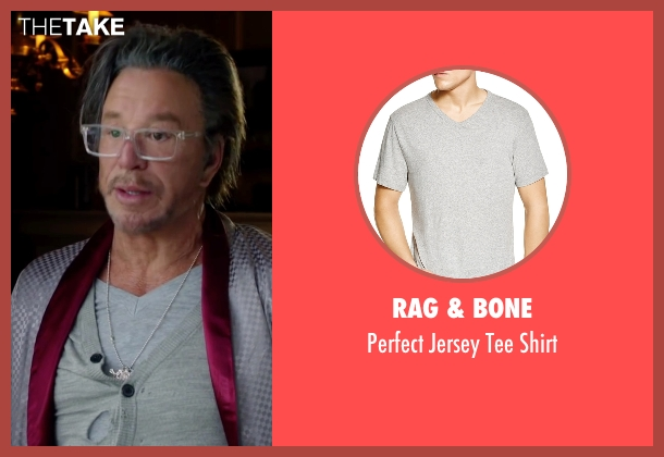 Rag & Bone gray shirt from Ashby seen with Mickey Rourke (Ashby Holt)
