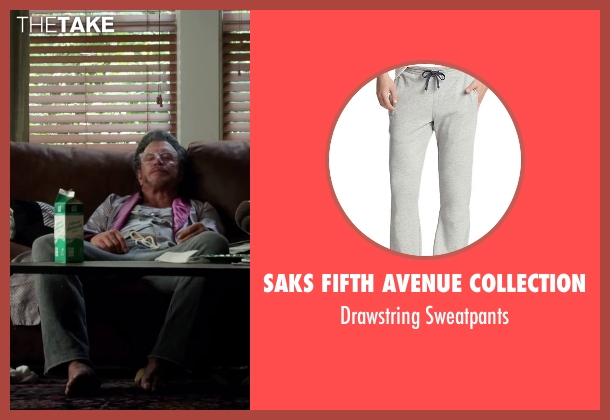 Saks Fifth Avenue Collection gray sweatpants from Ashby seen with Mickey Rourke (Ashby Holt)