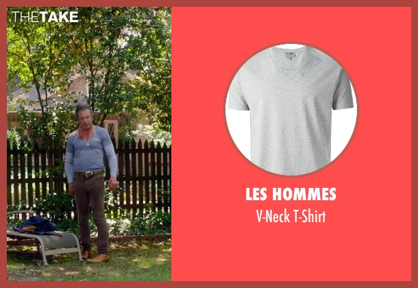 Les Hommes gray t-shirt from Ashby seen with Mickey Rourke (Ashby Holt)