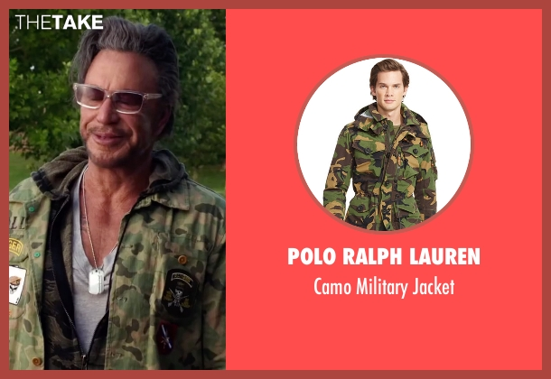 Polo Ralph Lauren green jacket from Ashby seen with Mickey Rourke (Ashby Holt)