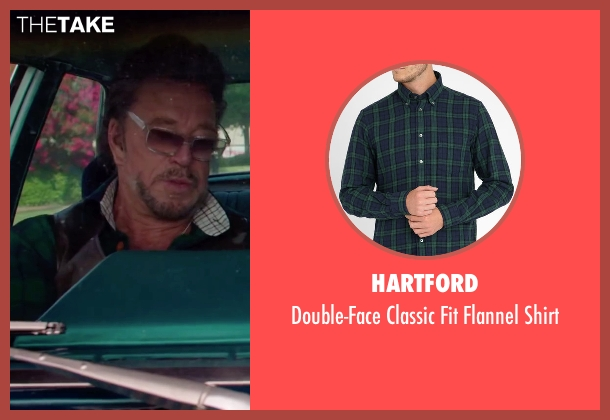 Hartford green shirt from Ashby seen with Mickey Rourke (Ashby Holt)
