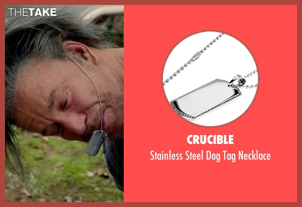 Crucible silver necklace from Ashby seen with Mickey Rourke (Ashby Holt)
