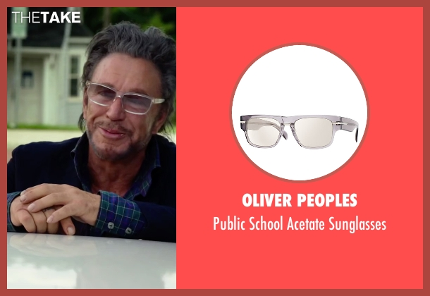 Oliver Peoples  sunglasses from Ashby seen with Mickey Rourke (Ashby Holt)