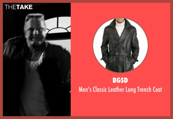 BGSD black coat from Frank Miller's Sin City: A Dame To Kill For seen with Mickey Rourke (Marv)