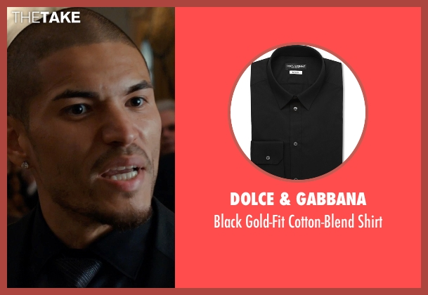 Dolce & Gabbana black shirt from Southpaw seen with Miguel Gómez (Miguel Escobar)