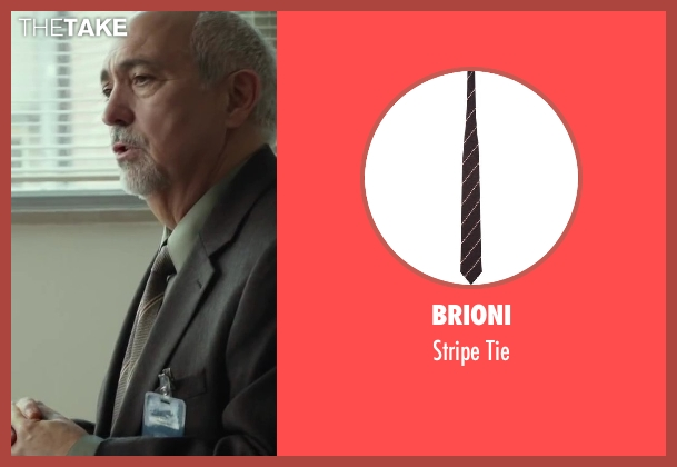 BRIONI brown tie from Oculus seen with Miguel Sandoval (Dr. Graham)