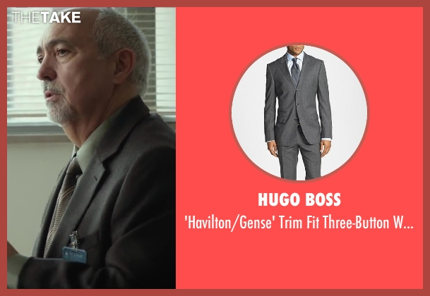 HUGO BOSS gray suit from Oculus seen with Miguel Sandoval (Dr. Graham)