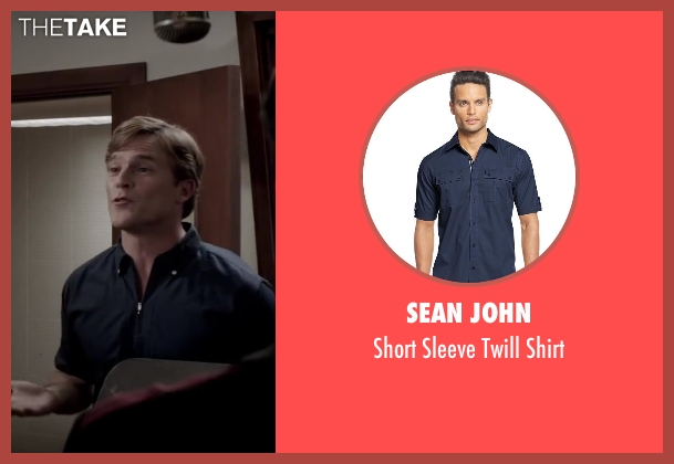 Sean John blue shirt from Jersey Boys seen with Mike Doyle (Bob Crewe)