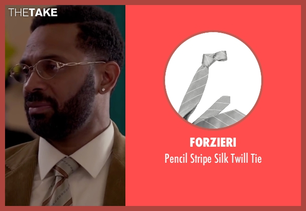 Forzieri gray tie from Fifty Shades of Black seen with Mike Epps (Unknown Character)