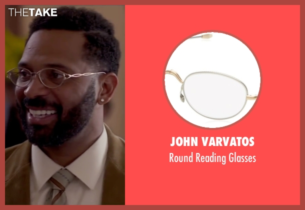John Varvatos white glasses from Fifty Shades of Black seen with Mike Epps (Unknown Character)