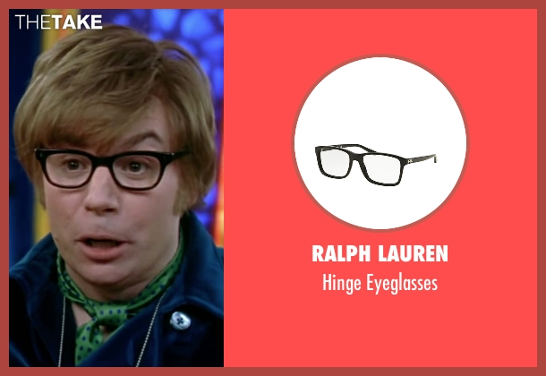 Ralph Lauren black eyeglasses from Austin Powers in Goldmember seen with Mike Myers (Austin Powers)