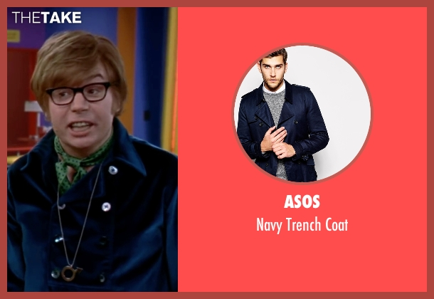 Asos blue coat from Austin Powers in Goldmember seen with Mike Myers (Austin Powers)