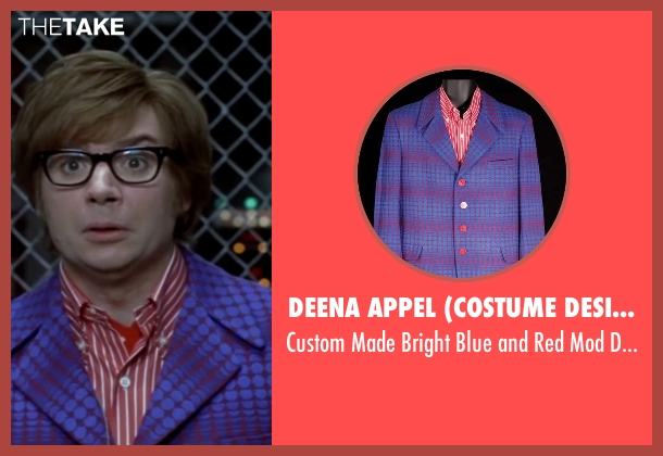 Deena Appel (Costume Designer) blue suit from Austin Powers in Goldmember seen with Mike Myers (Austin Powers)