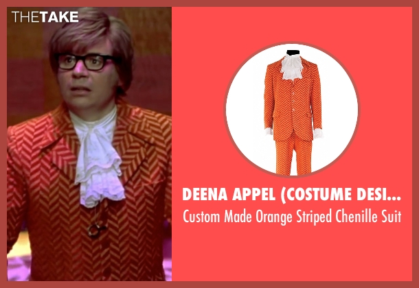 Deena Appel (Costume Designer) orange suit from Austin Powers in Goldmember seen with Mike Myers (Austin Powers)