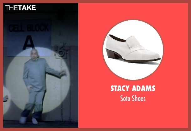 Stacy Adams white shoes from Austin Powers in Goldmember seen with Mike Myers (Dr. Evil)