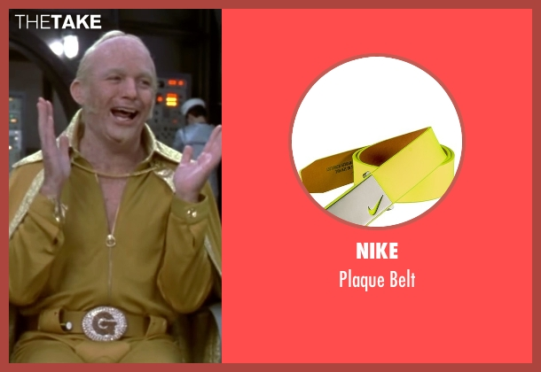Nike yellow belt from Austin Powers in Goldmember seen with Mike Myers (Goldmember)