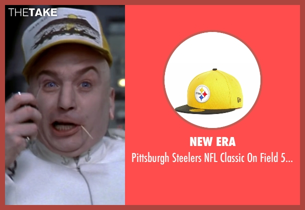 New Era yellow cap from Austin Powers in Goldmember seen with Mike Myers (Dr. Evil)