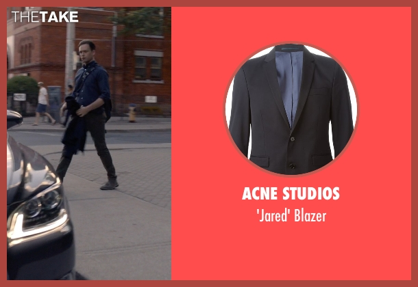 Acne Studios black blazer from Suits seen with Mike Ross (Patrick J. Adams)
