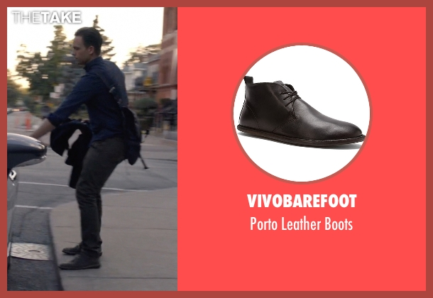 Vivobarefoot black boots from Suits seen with Mike Ross (Patrick J. Adams)