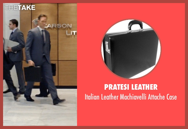 Pratesi Leather black case from Suits seen with Mike Ross (Patrick J. Adams)