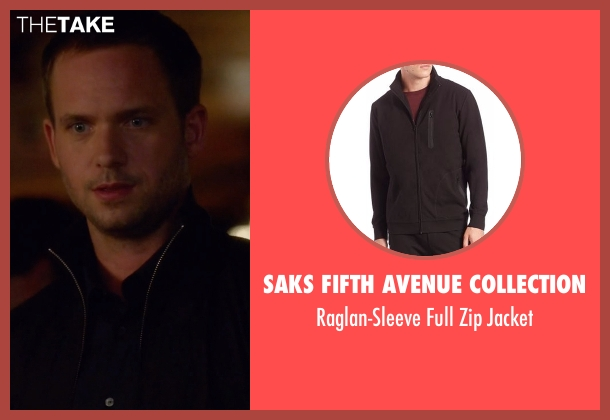 Saks Fifth Avenue Collection  black jacket from Suits seen with Mike Ross (Patrick J. Adams)