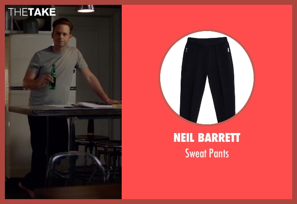 Neil Barrett black pants from Suits seen with Mike Ross (Patrick J. Adams)