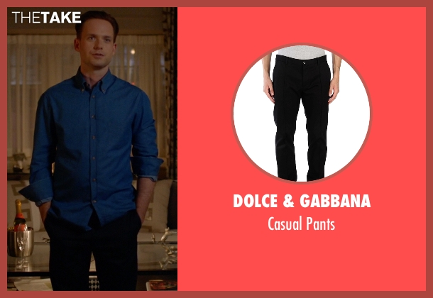Dolce & Gabbana black pants from Suits seen with Mike Ross (Patrick J. Adams)