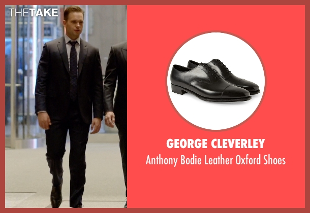 George Cleverley black shoes from Suits seen with Mike Ross (Patrick J. Adams)