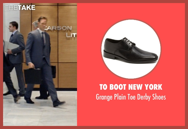 To Boot New York black shoes from Suits seen with Mike Ross (Patrick J. Adams)