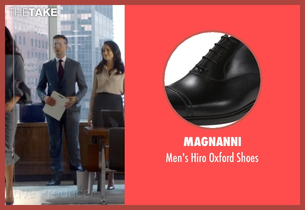 Magnanni black shoes from Suits seen with Mike Ross (Patrick J. Adams)