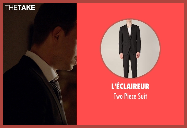 L'éclaireur black suit from Suits seen with Mike Ross (Patrick J. Adams)