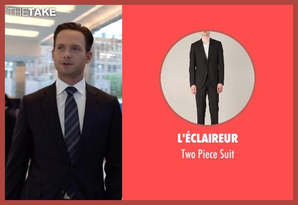 L'éclaireur black suit from Suits seen with Mike Ross (Patrick J. Adams)