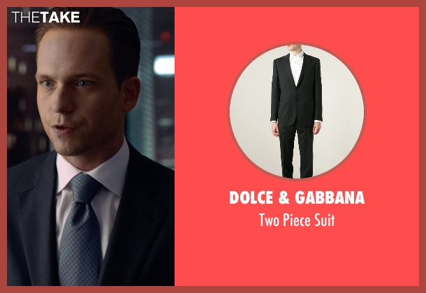 Dolce & Gabbana black suit from Suits seen with Mike Ross (Patrick J. Adams)