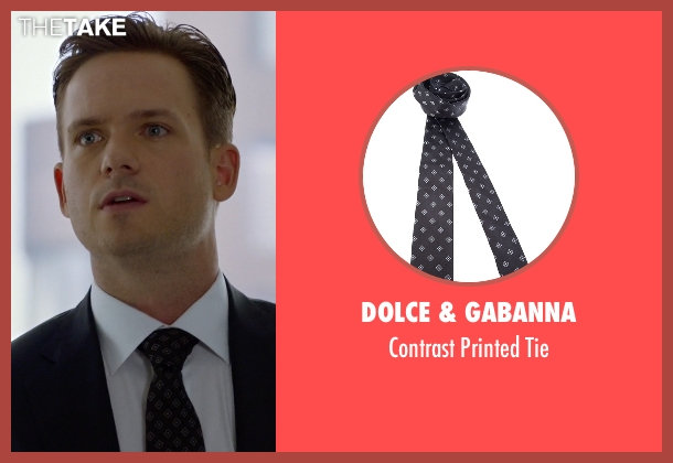 Dolce & Gabanna black tie from Suits seen with Mike Ross (Patrick J. Adams)
