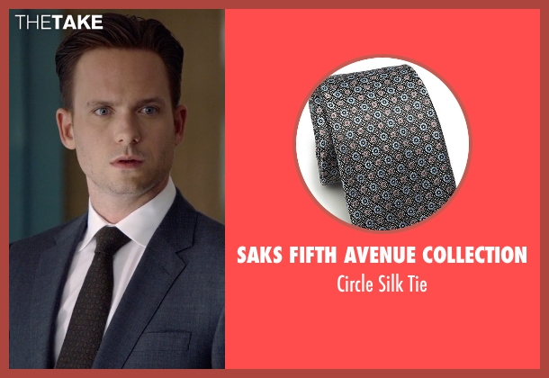 Saks Fifth Avenue Collection black tie from Suits seen with Mike Ross (Patrick J. Adams)