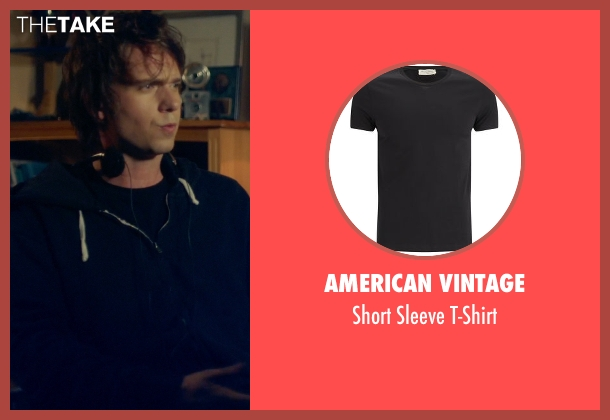 American Vintage black t-shirt from Suits seen with Mike Ross (Patrick J. Adams)