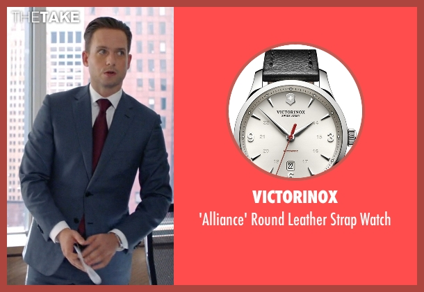 Victorinox black watch from Suits seen with Mike Ross (Patrick J. Adams)