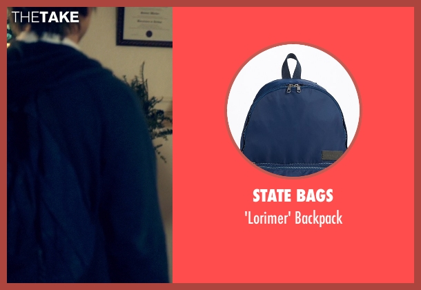 State Bags blue backpack from Suits seen with Mike Ross (Patrick J. Adams)