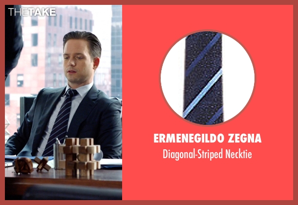 Ermenegildo Zegna blue necktie from Suits seen with Mike Ross (Patrick J. Adams)
