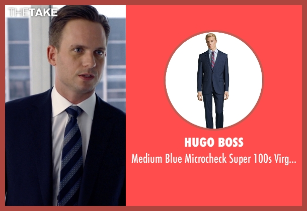 Hugo Boss blue pants from Suits seen with Mike Ross (Patrick J. Adams)