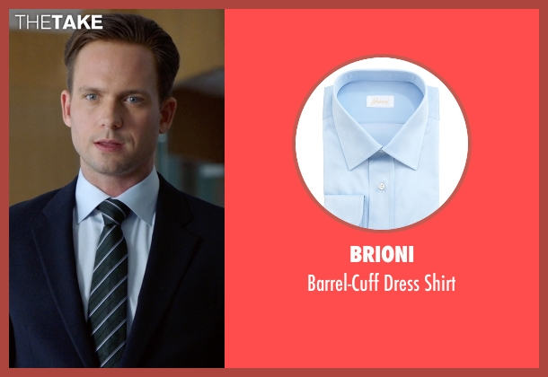Brioni blue shirt from Suits seen with Mike Ross (Patrick J. Adams)