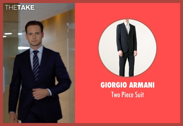 Giorgio Armani blue suit from Suits seen with Mike Ross (Patrick J. Adams)