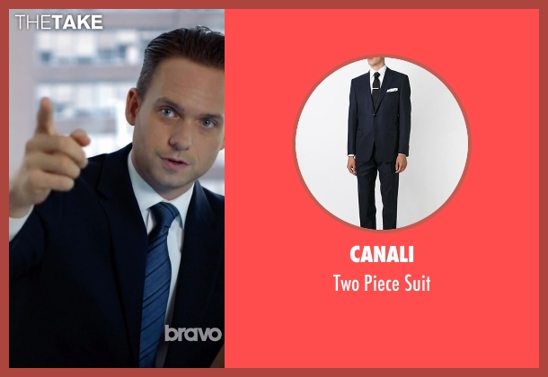 Canali blue suit from Suits seen with Mike Ross (Patrick J. Adams)
