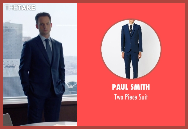 Paul Smith blue suit from Suits seen with Mike Ross (Patrick J. Adams)