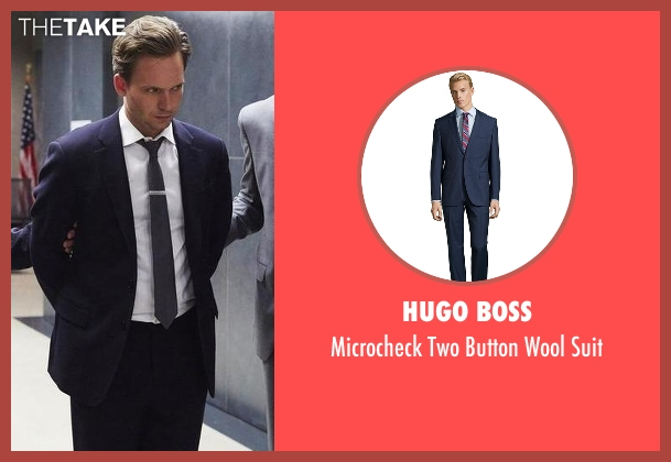 Hugo Boss blue suit from Suits seen with Mike Ross (Patrick J. Adams)