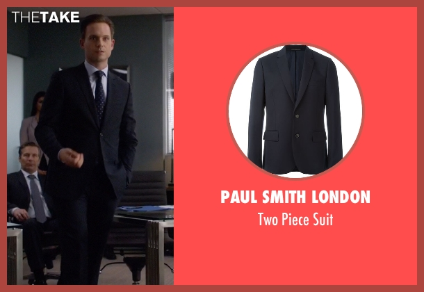 Paul Smith London blue suit from Suits seen with Mike Ross (Patrick J. Adams)