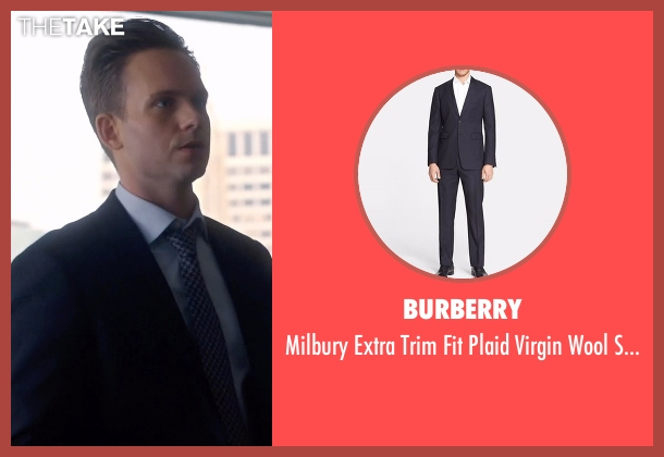 Burberry blue suit from Suits seen with Mike Ross (Patrick J. Adams)