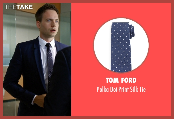 Tom Ford	 blue tie from Suits seen with Mike Ross (Patrick J. Adams)