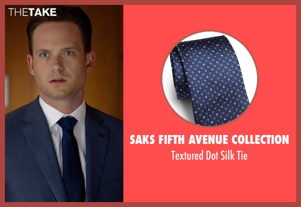 Saks Fifth Avenue Collection blue tie from Suits seen with Mike Ross (Patrick J. Adams)