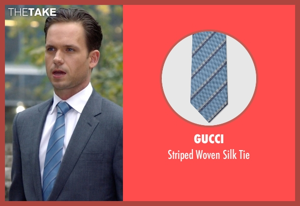 Gucci blue tie from Suits seen with Mike Ross (Patrick J. Adams)